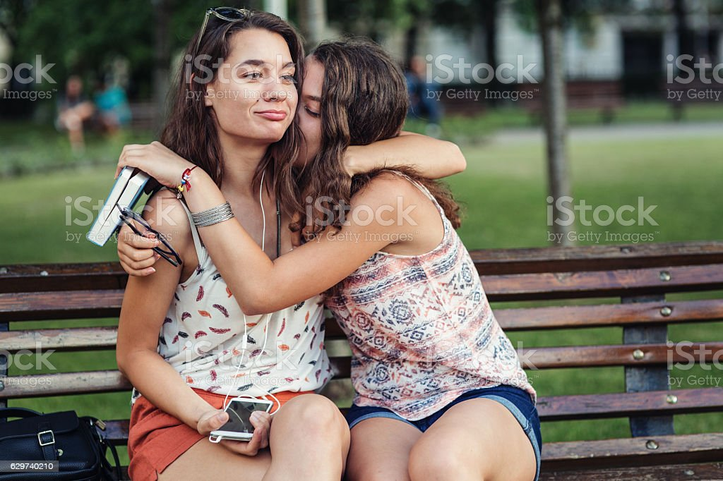 Sisters' love stock photo