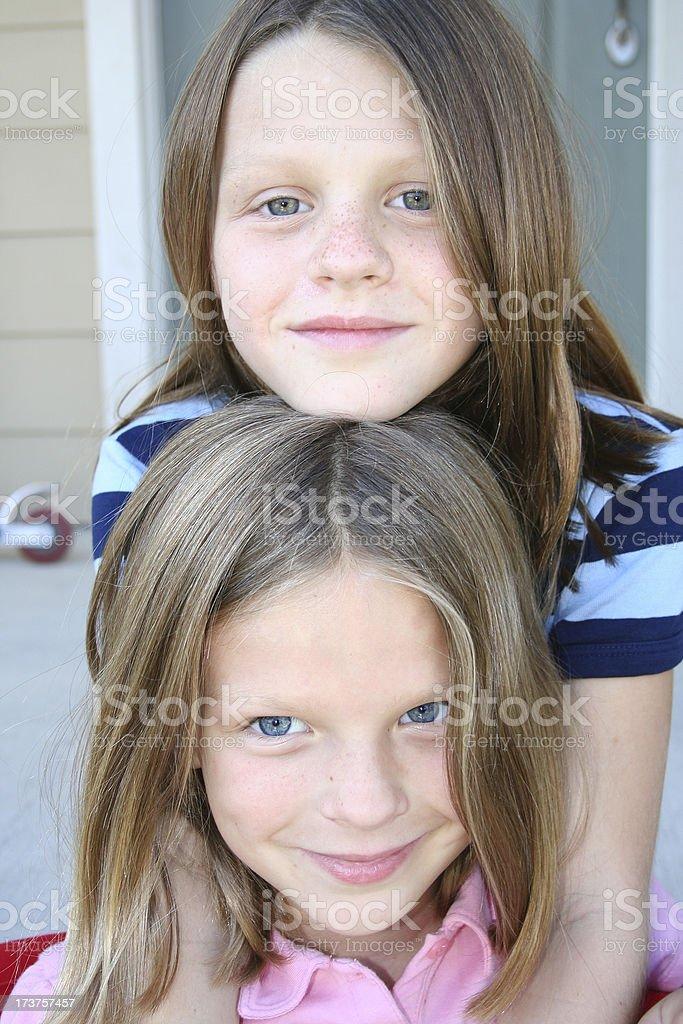 Sisters Portrait stock photo