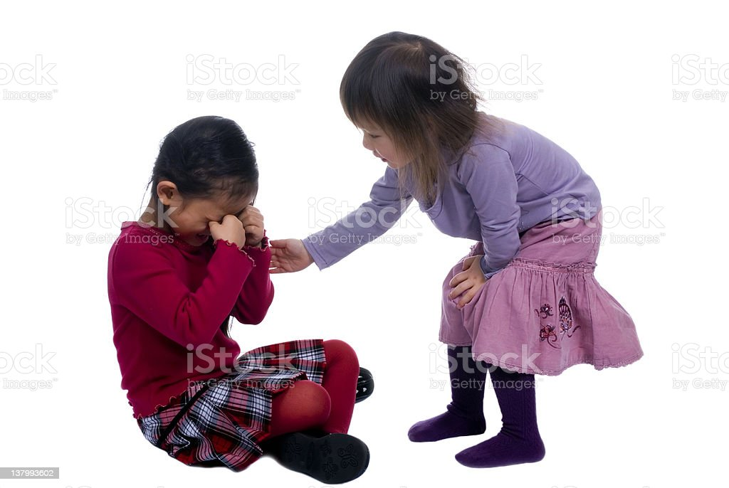 Sisters Series 11 (helping hands) stock photo