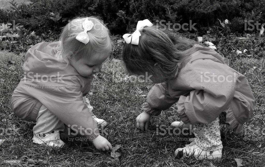 Sisters Sharing royalty-free stock photo
