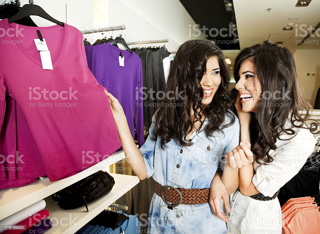 sisters shopping royalty-free stock photo