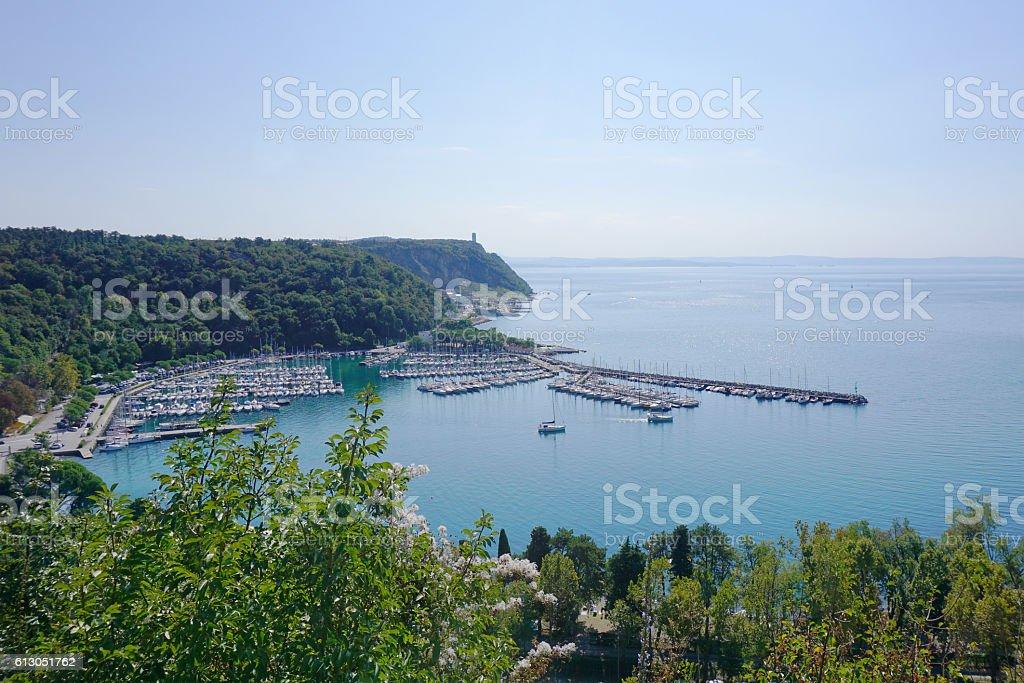 Sistiana and Porto Piccolo, near Trieste stock photo