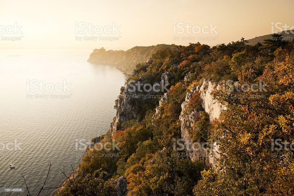Sistiana Bay,  Duino, Trieste. royalty-free stock photo