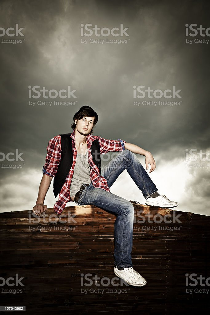 sit and wait royalty-free stock photo