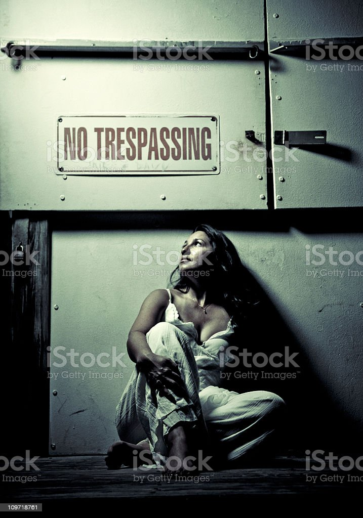 sit but no trespass royalty-free stock photo