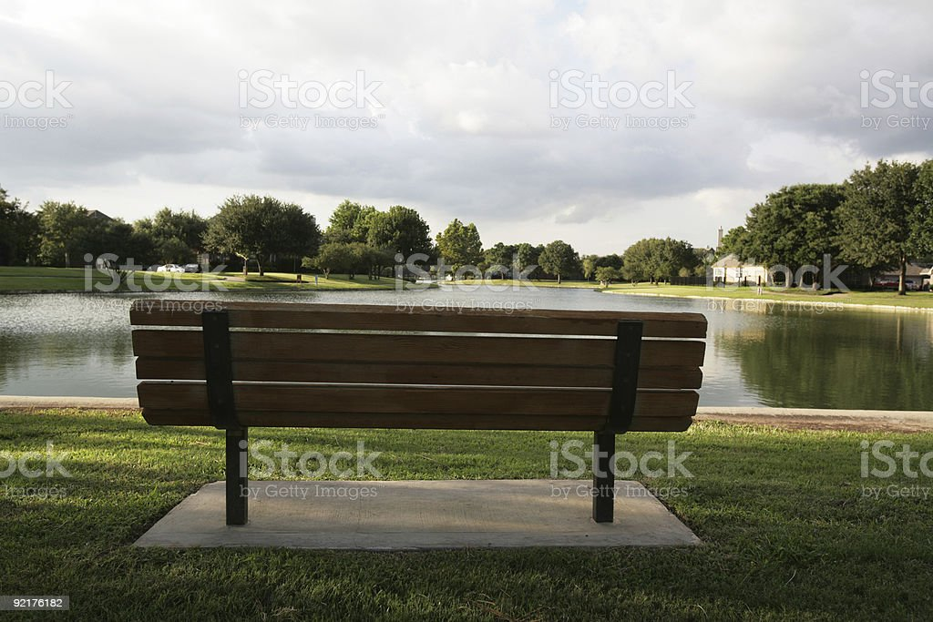 Sit down and rest a spell stock photo
