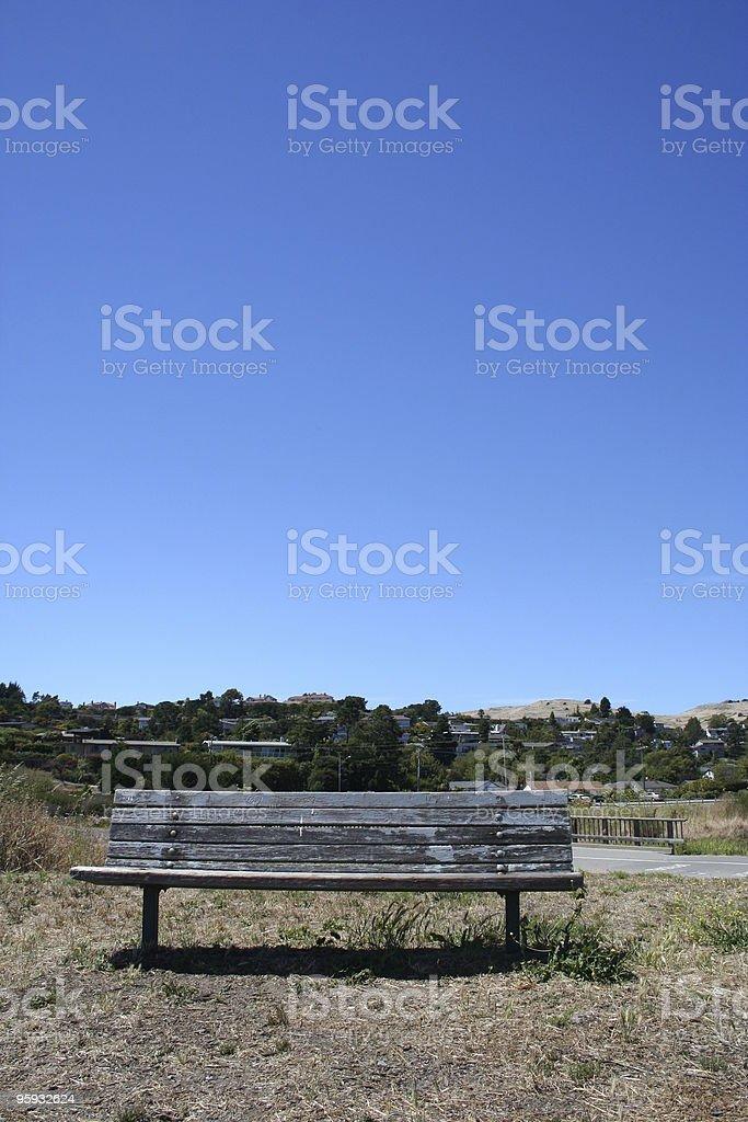 Asseyez-vous ici photo libre de droits