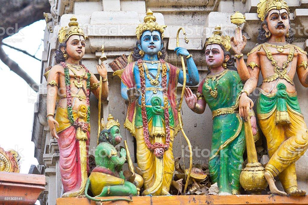 Sita, Rama, Lakshman and Hanuman stock photo