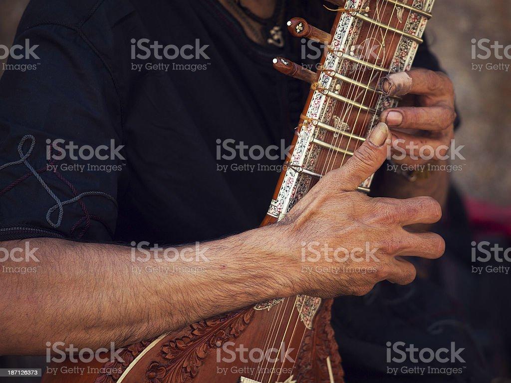 sitar performer stock photo