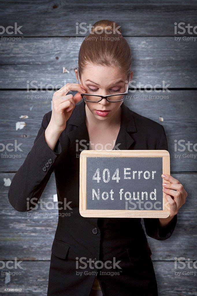 site missing error black board stock photo