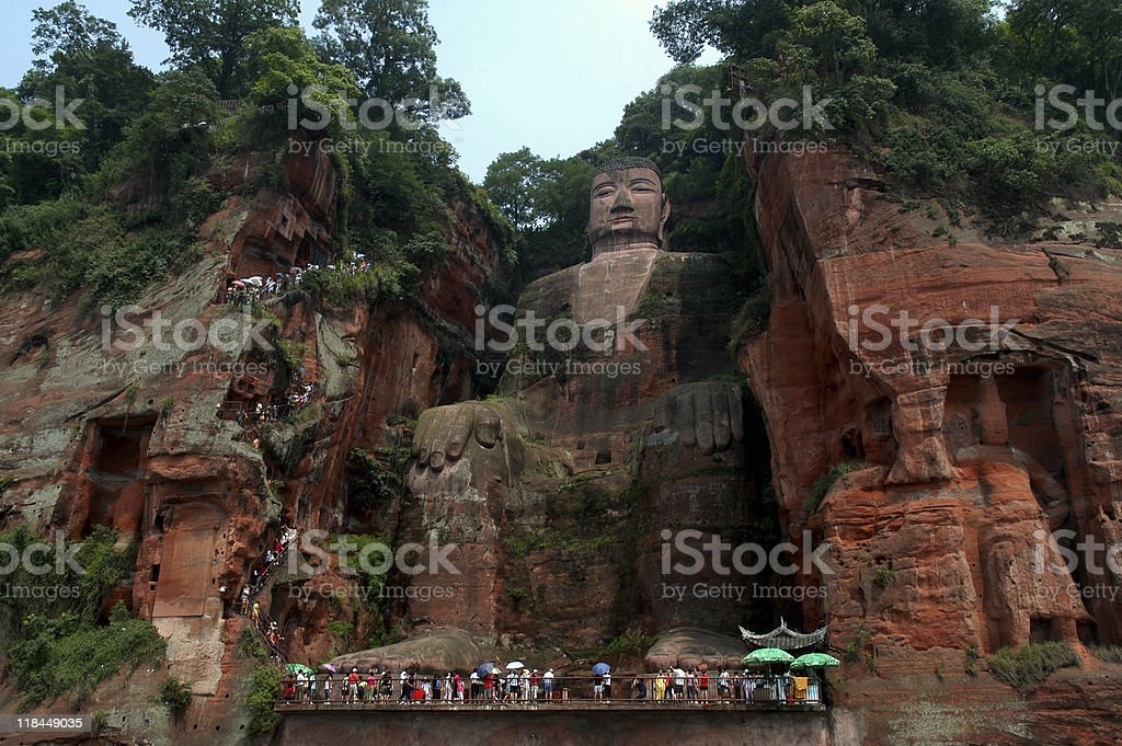 Site of Grand Buddha at Leshan stock photo