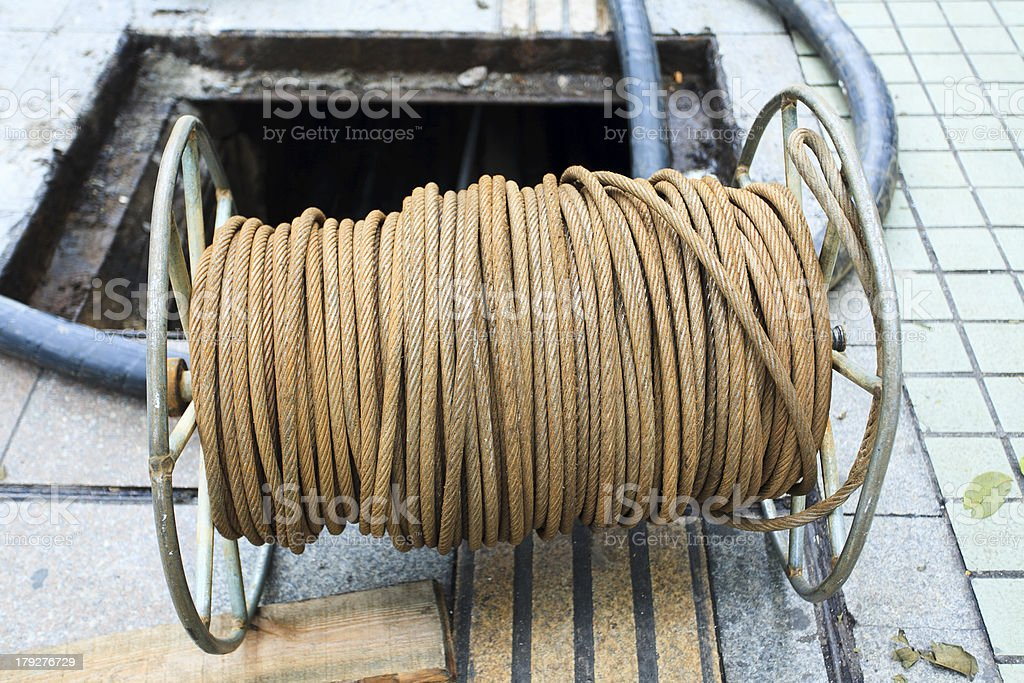 Site rope stock photo