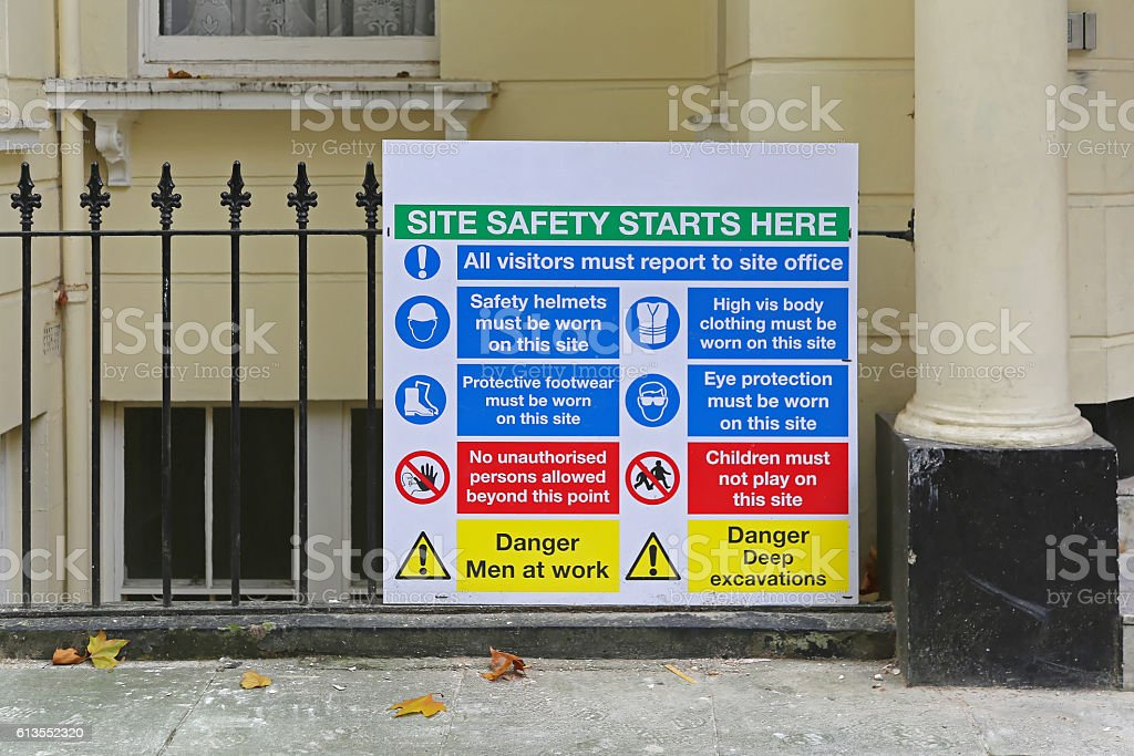 Site Safety stock photo