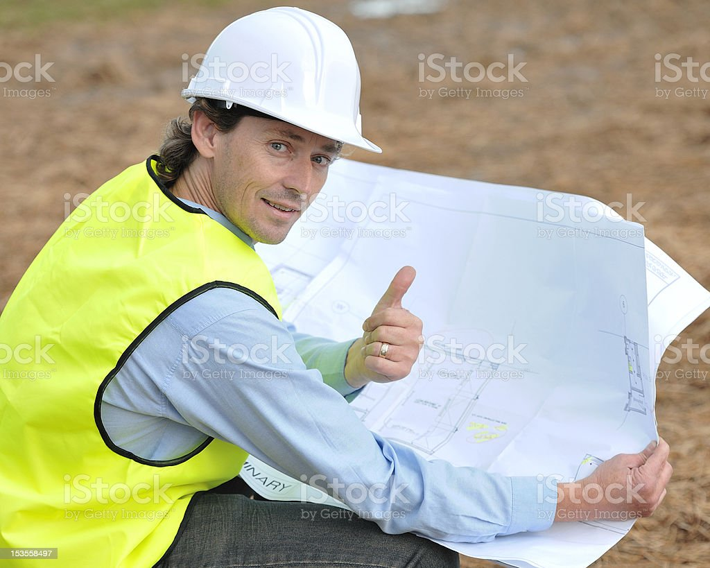 Site Supervisor royalty-free stock photo