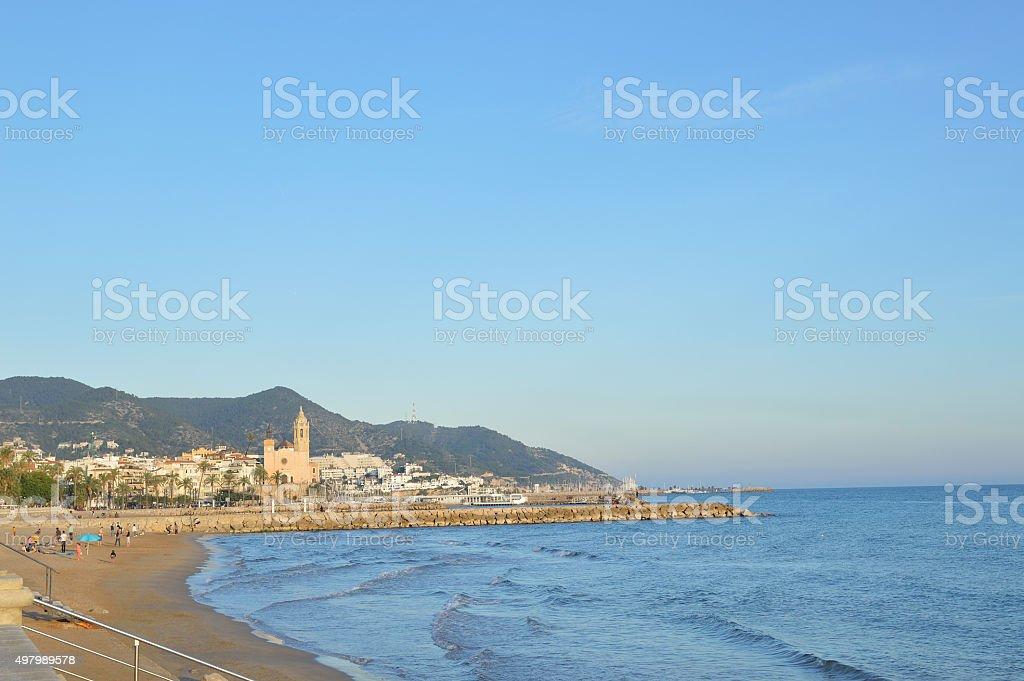 Sitges beach stock photo