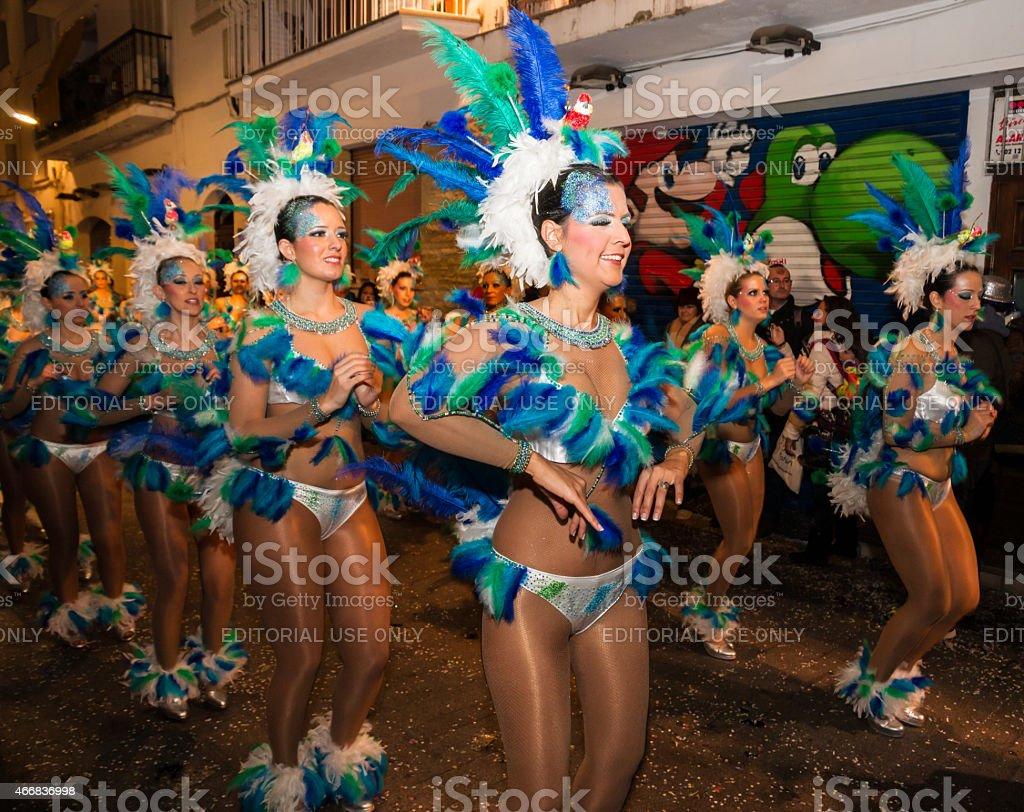 Sitges Carnival's Carnestoltes 2015 stock photo