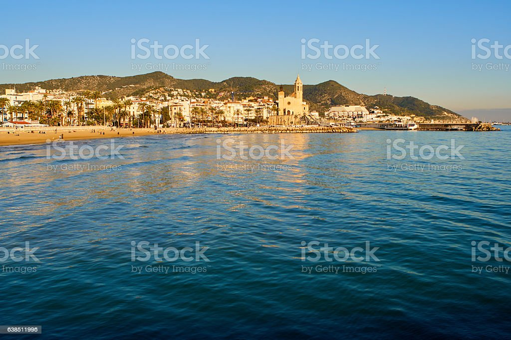 Sitges in the afternoon light stock photo