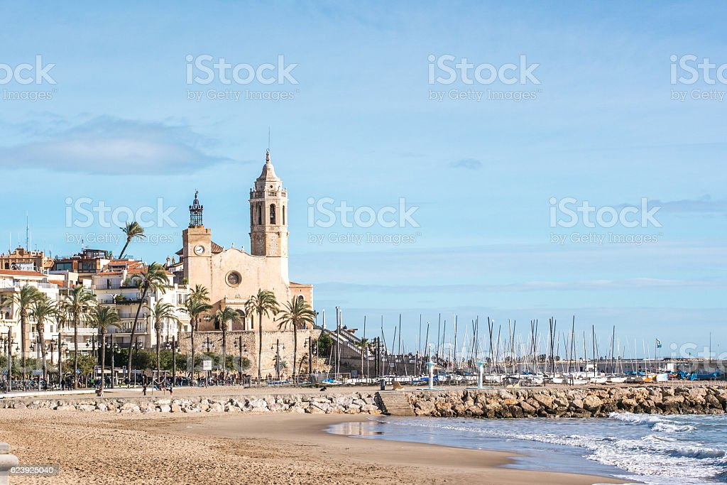 Sitges in Winter stock photo