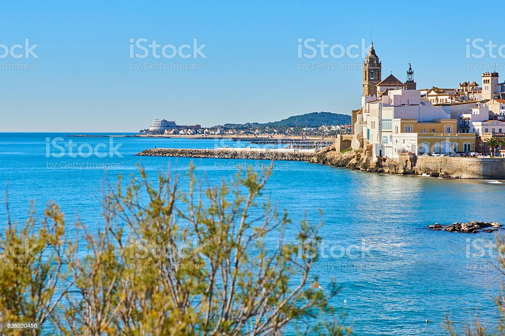 Sitges views a sunnu day stock photo