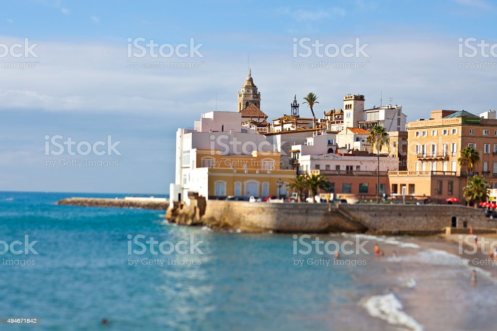 Sitges views stock photo
