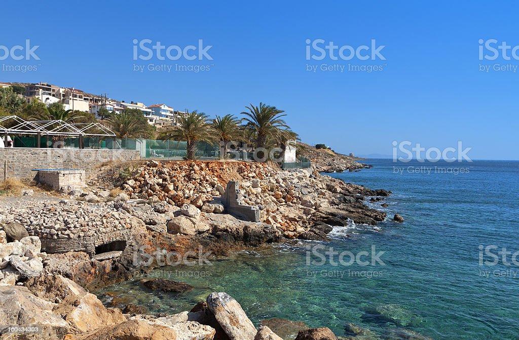 Sitia city and seafront, Crete island, Greece stock photo