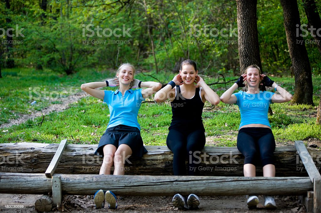 Sits-up in Nature royalty-free stock photo