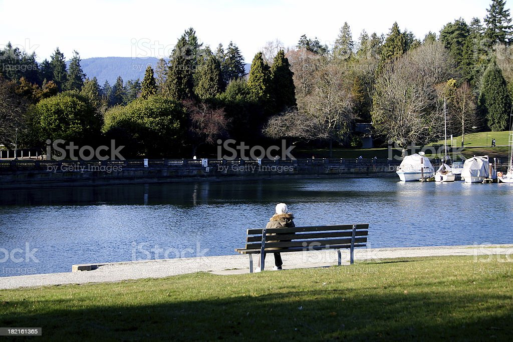 Sitting Alone in the Park royalty-free stock photo
