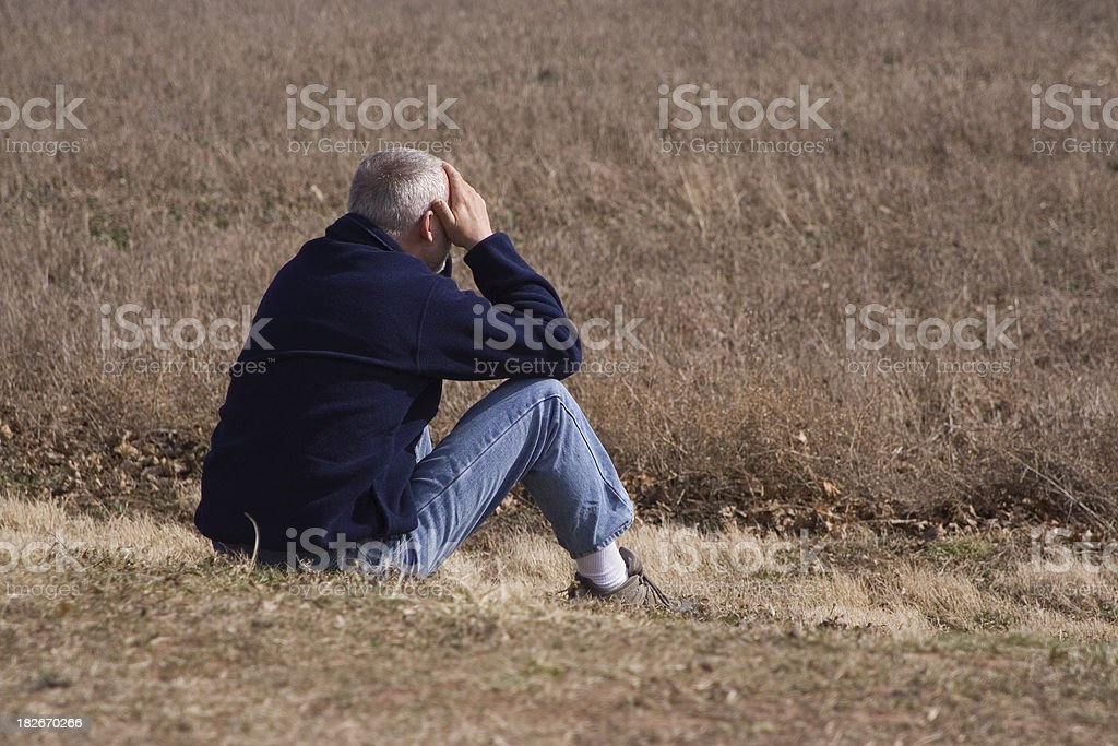 Sitting Alone royalty-free stock photo