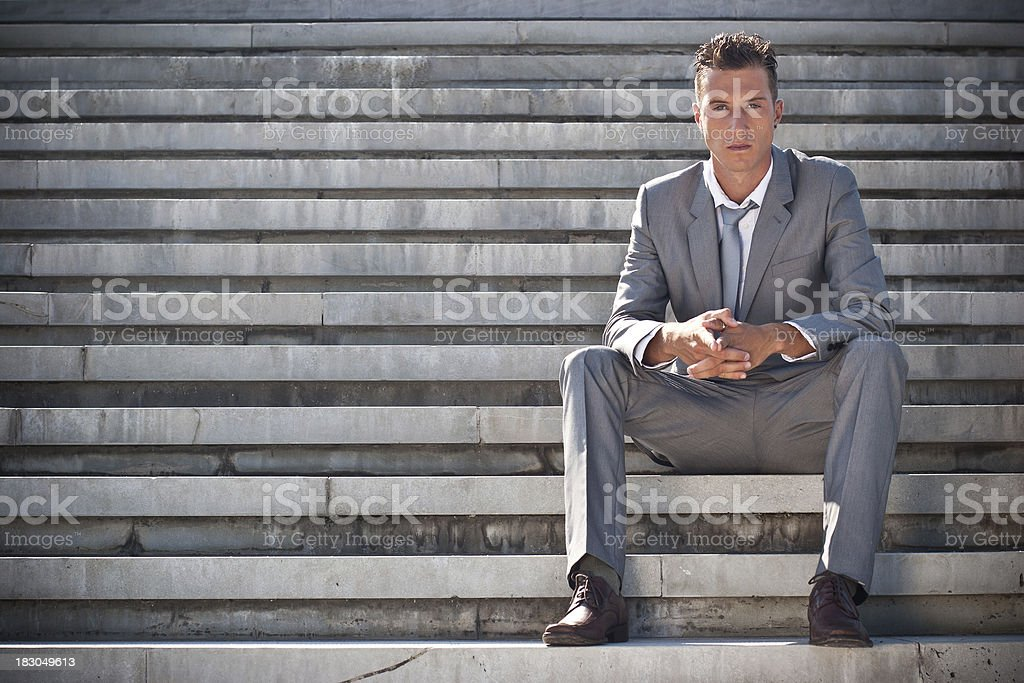 Sitting and waiting royalty-free stock photo