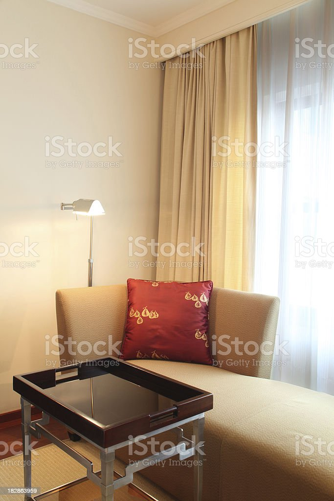 Sitting Area in a Corner royalty-free stock photo