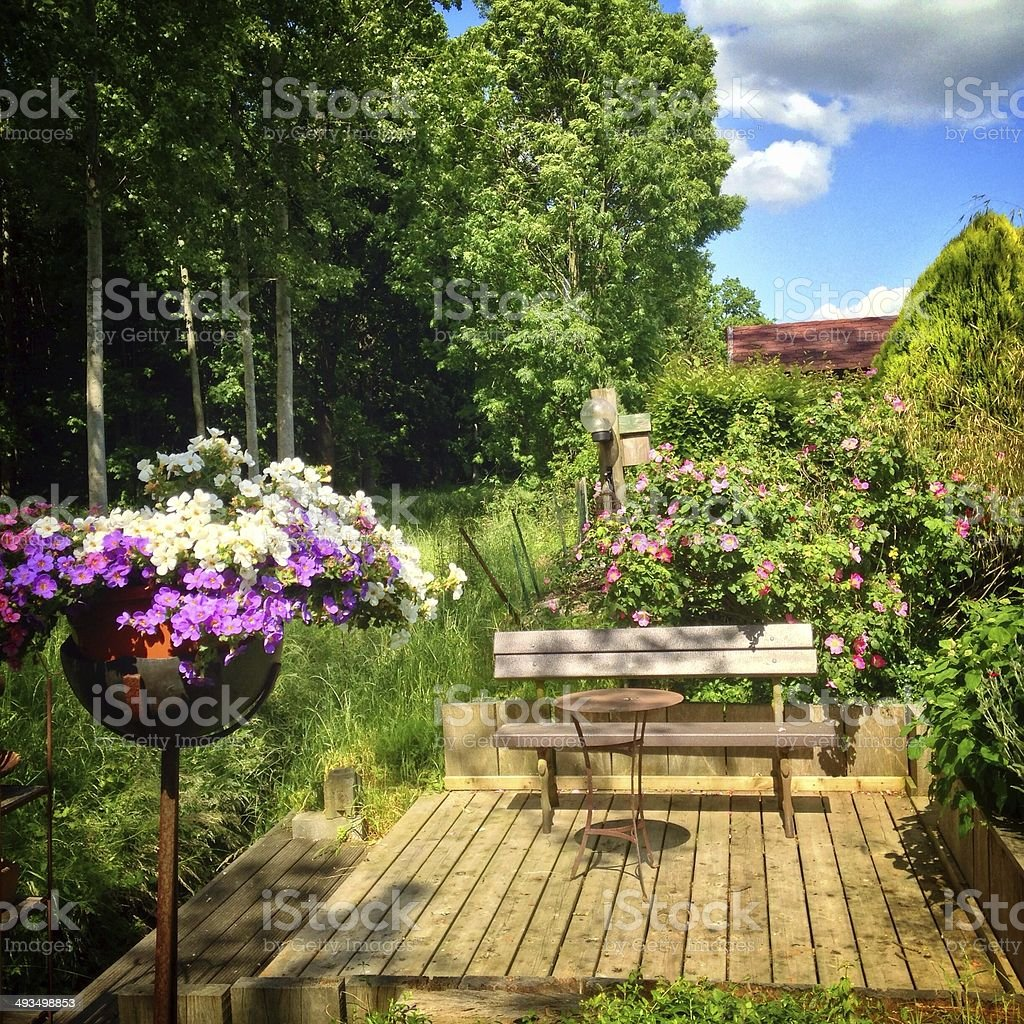 Sitting  area in the garden royalty-free stock photo