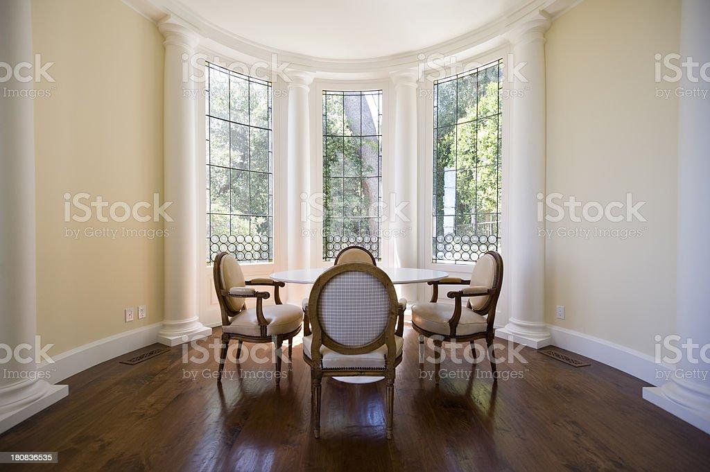 sitting area stock photo