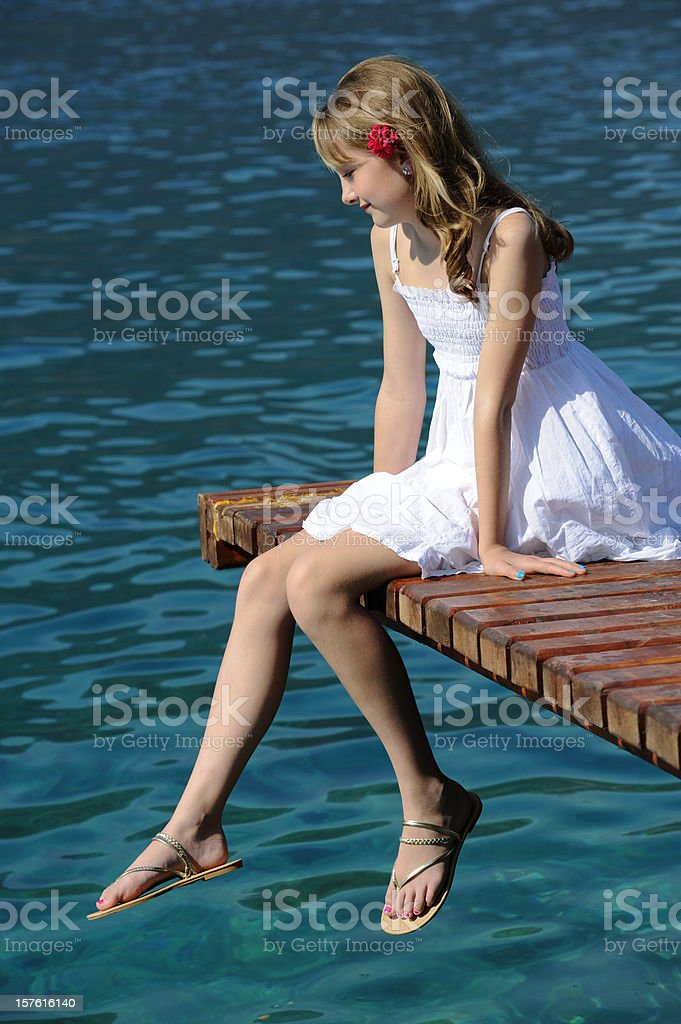 Sitting at the dock royalty-free stock photo