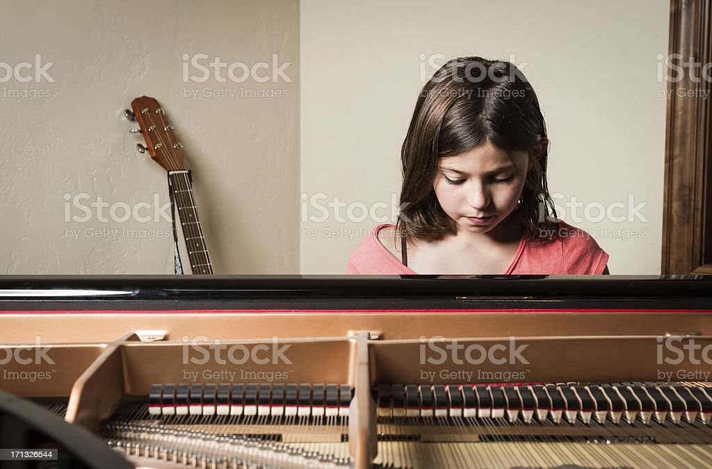 Sitting At The Piano stock photo