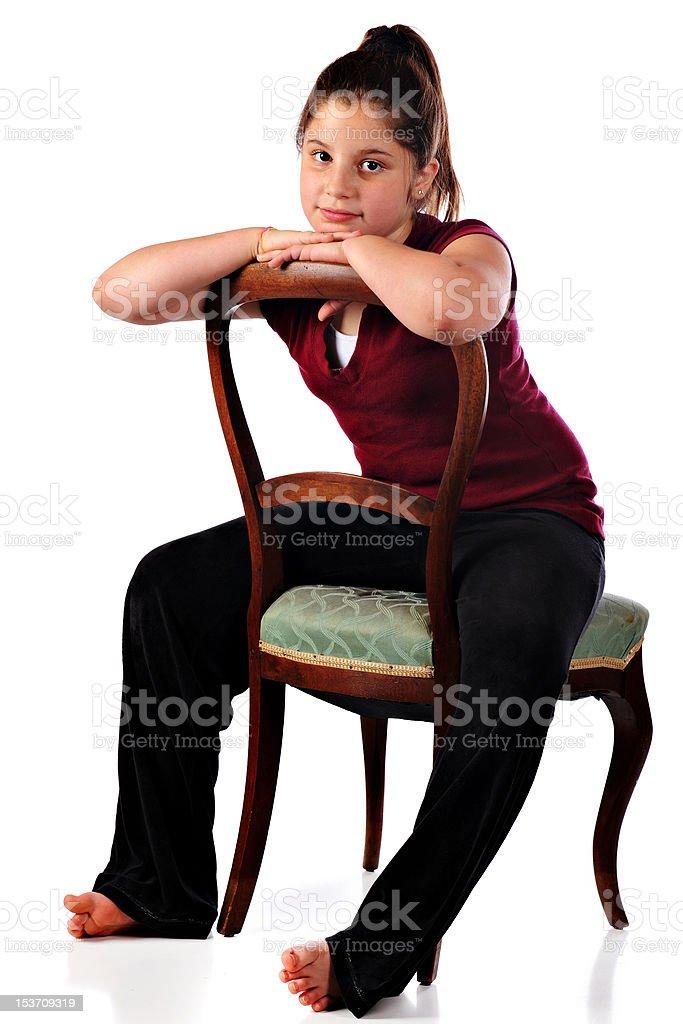 Sitting Backwards stock photo