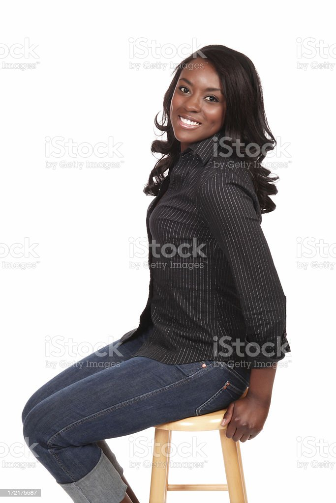 Sitting Beauty stock photo
