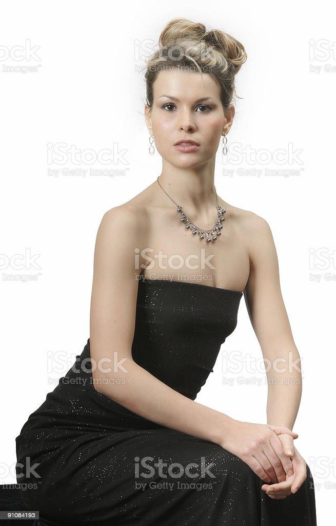 Sitting Beauty royalty-free stock photo