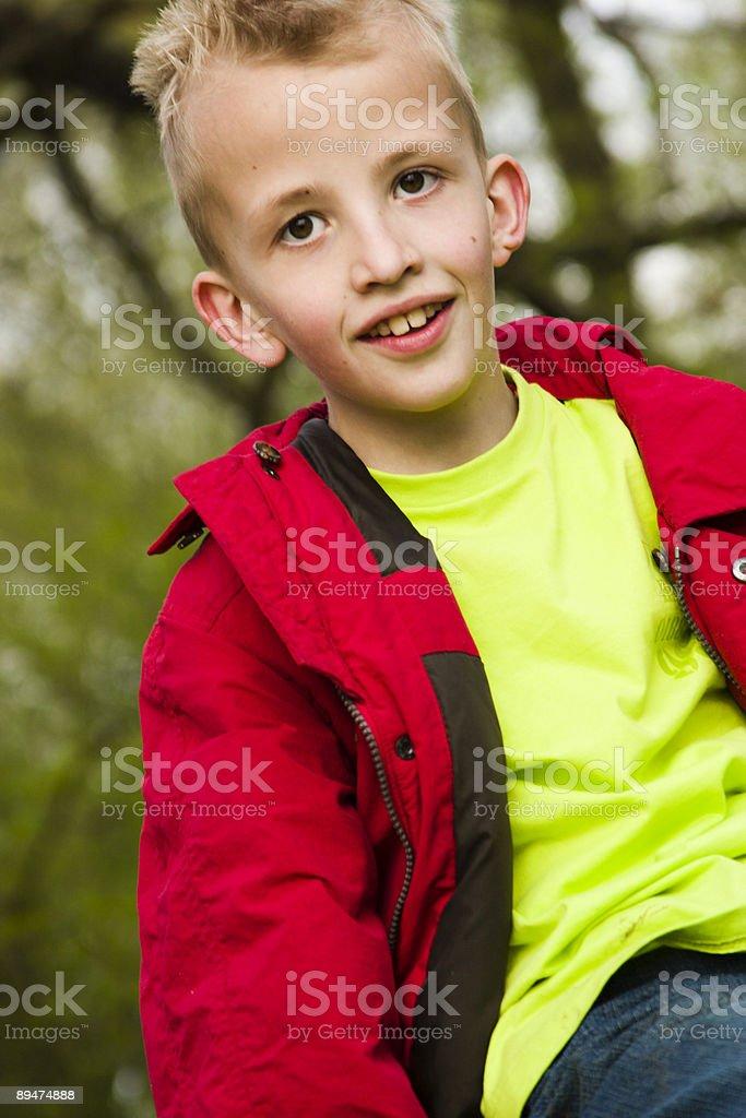 sitting boy royalty-free stock photo