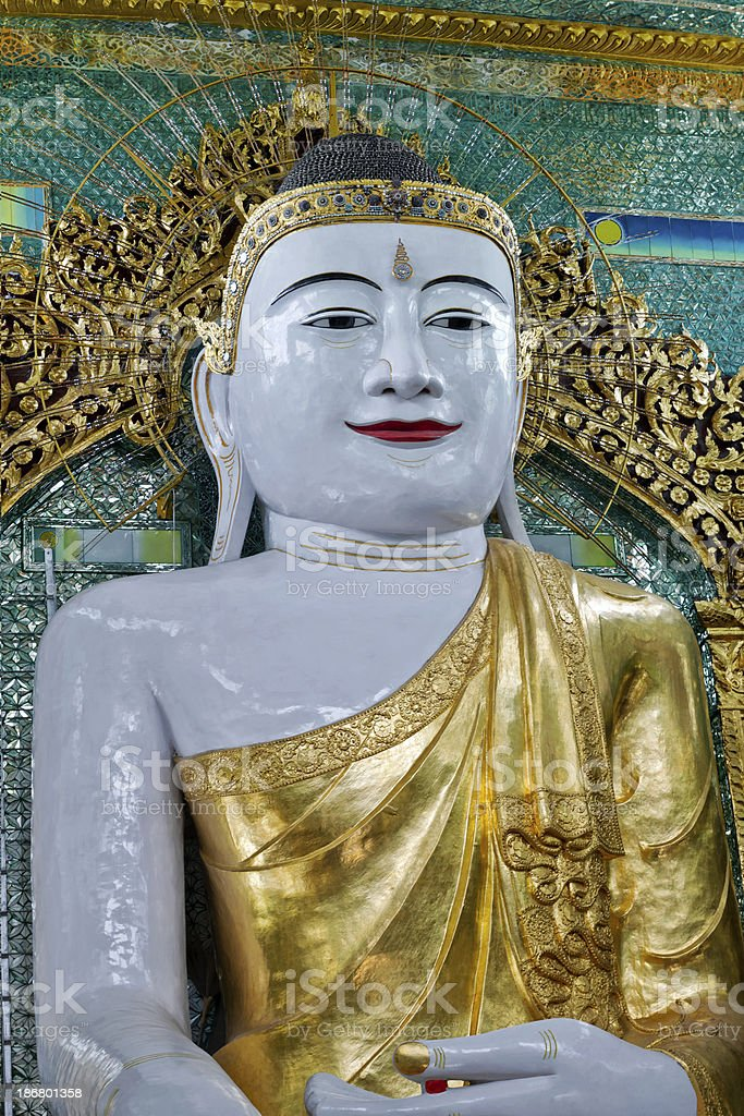 Sitting Buddha at the Pon Nya Shin Temple royalty-free stock photo