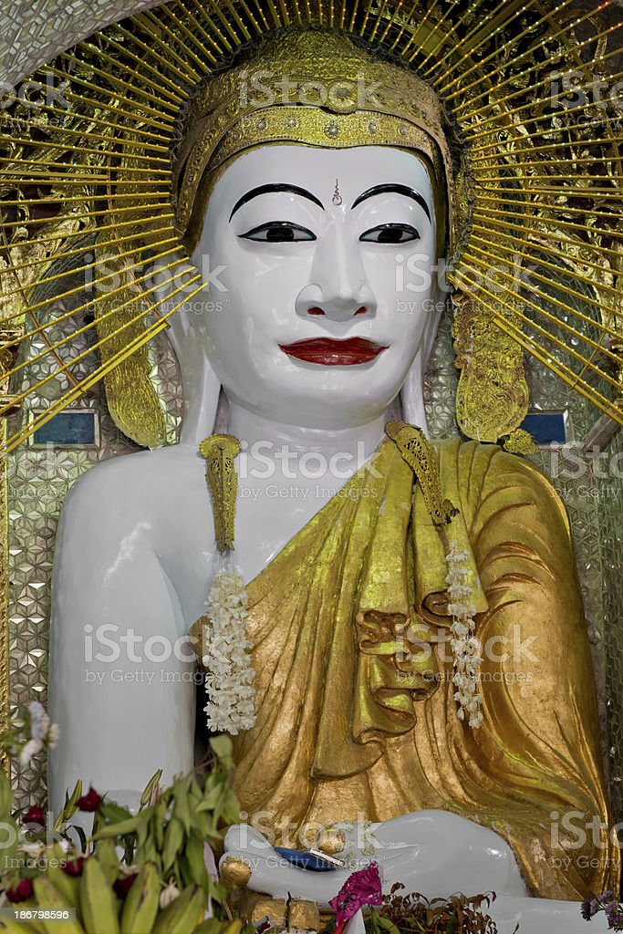Sitting Buddha at the Shwe Kyet Yet Temple royalty-free stock photo