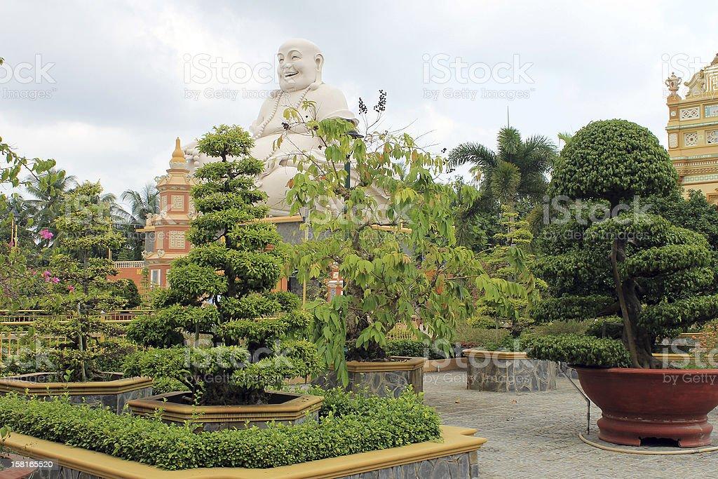 Sitting Buddha At Vinh Trang Pagoda, My Tho, Vietnam stock photo