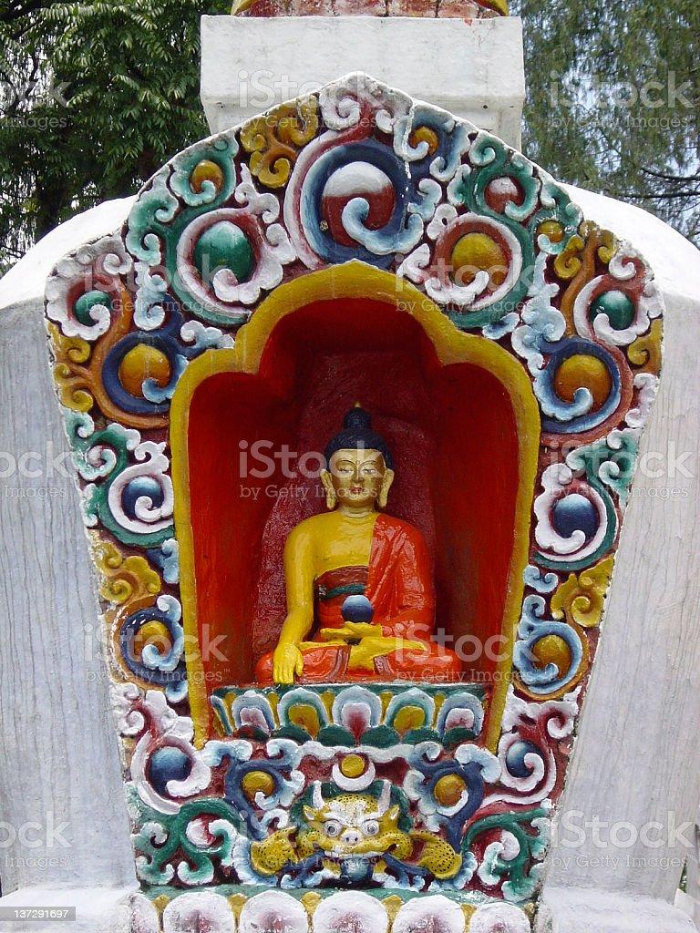 Sitting Buddha royalty-free stock photo