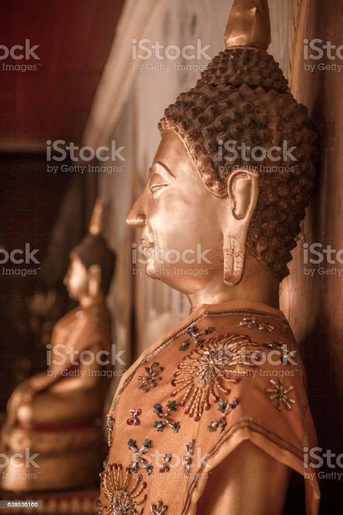 Sitting Buddha Statues in Thailand stock photo