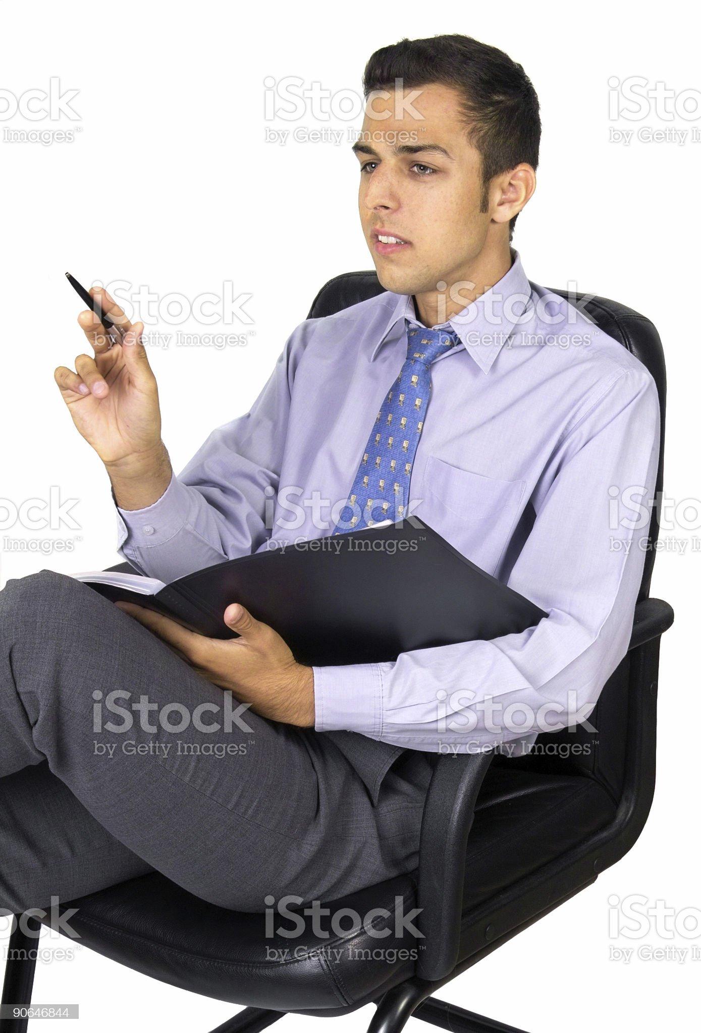 Sitting business man royalty-free stock photo