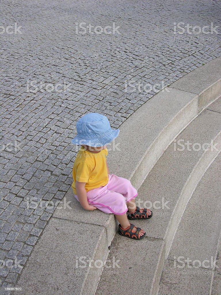 sitting child royalty-free stock photo