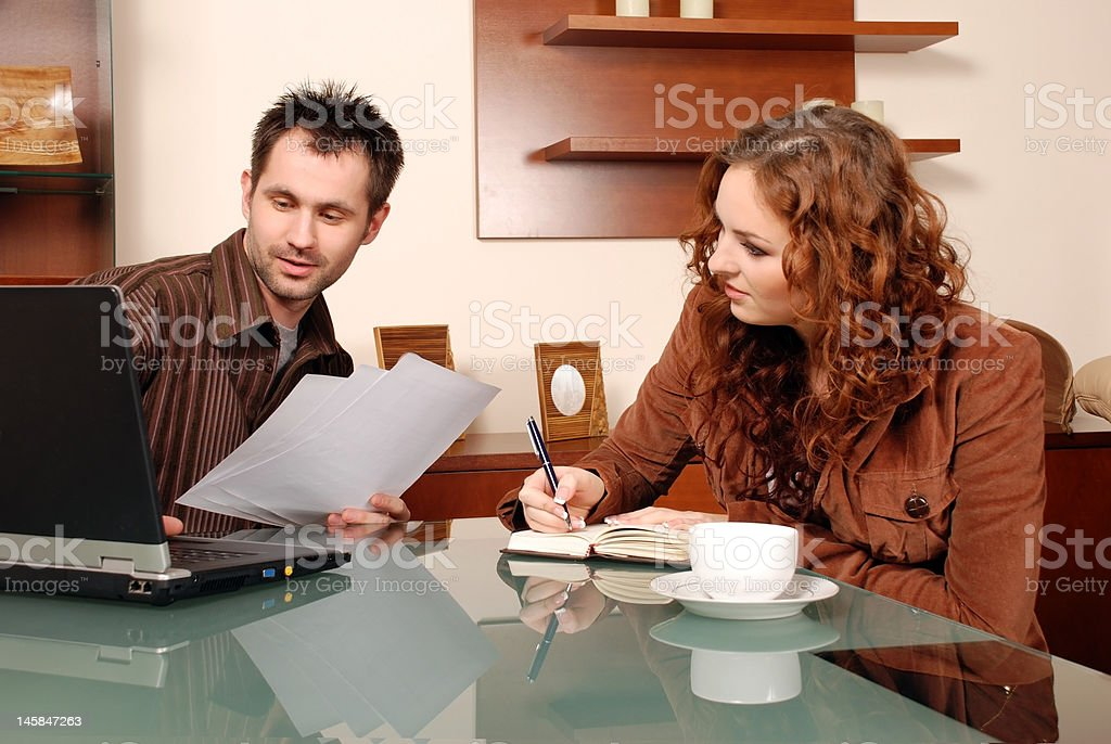 Sitting couple. royalty-free stock photo