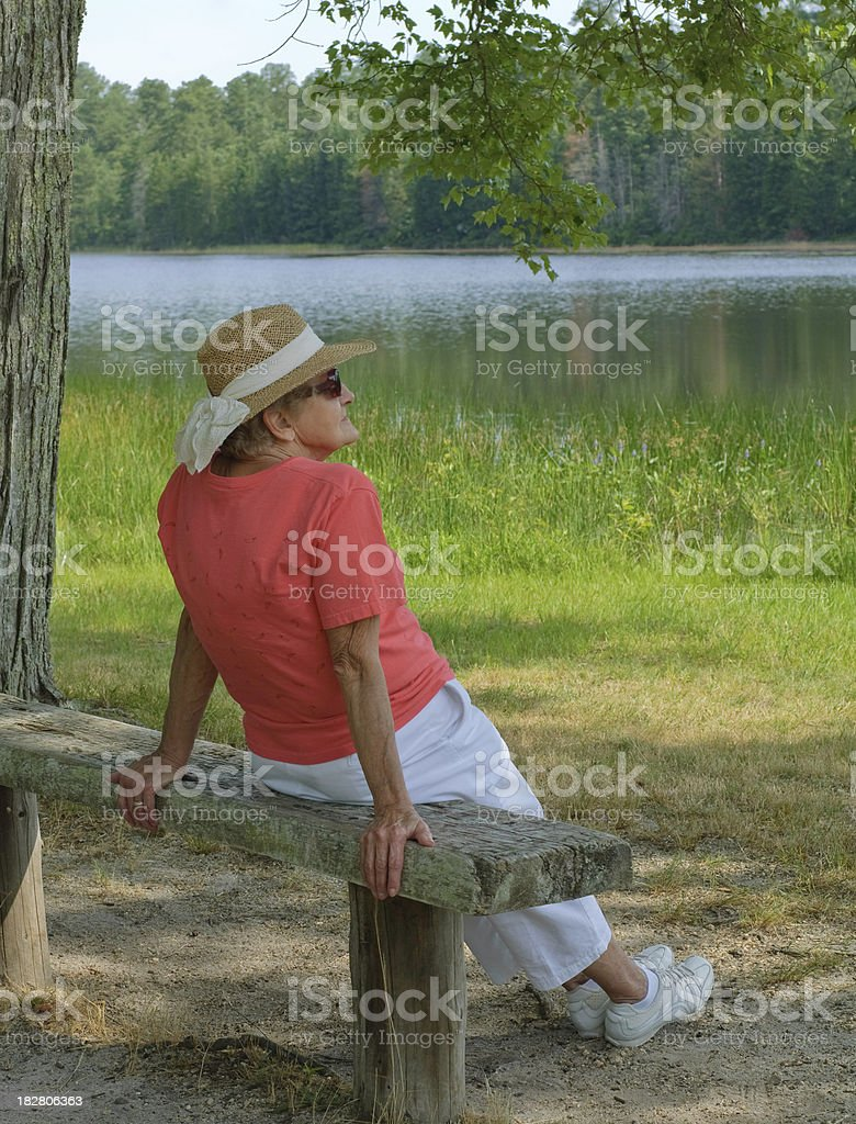 Sitting In A Shady Spot royalty-free stock photo