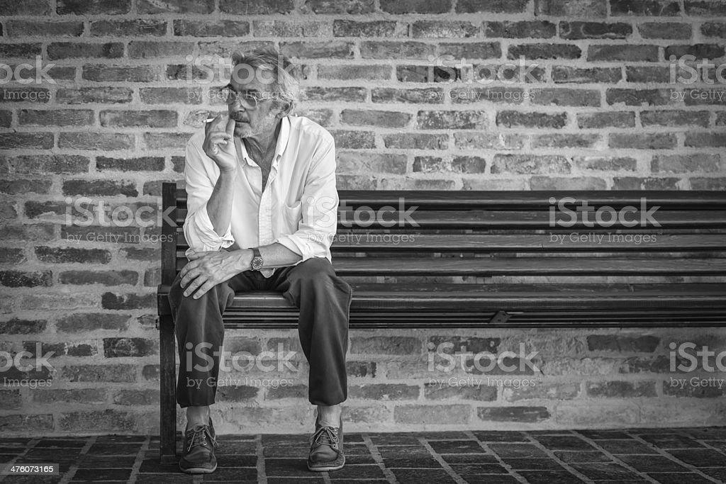 Sitting Man stock photo