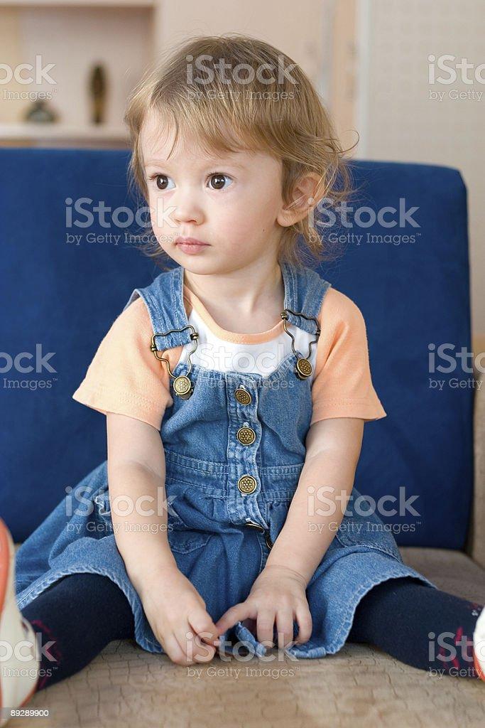 sitting on the sofa royalty-free stock photo