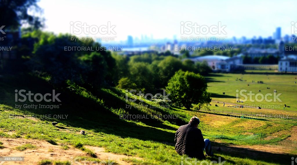Sitting on the top of Greenwich Observatory stock photo